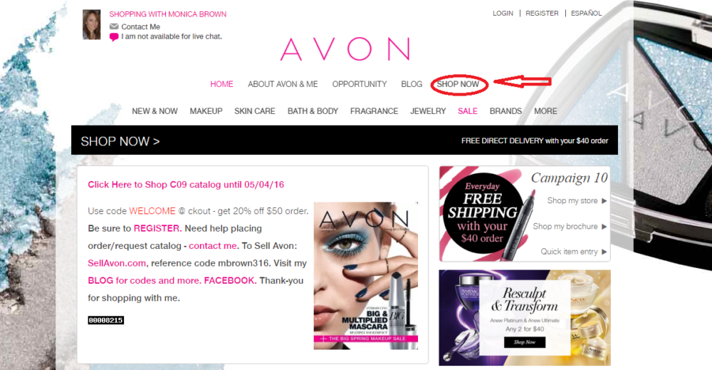 How to shop online with Avon catalog